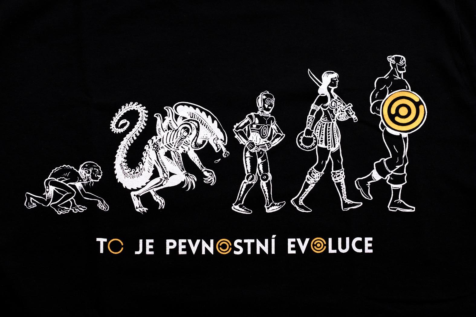 Pánské tričko Evoluce - žluté - 4