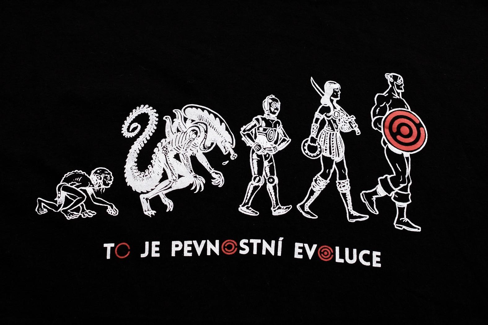 Pánské tričko Evoluce - červené - 4