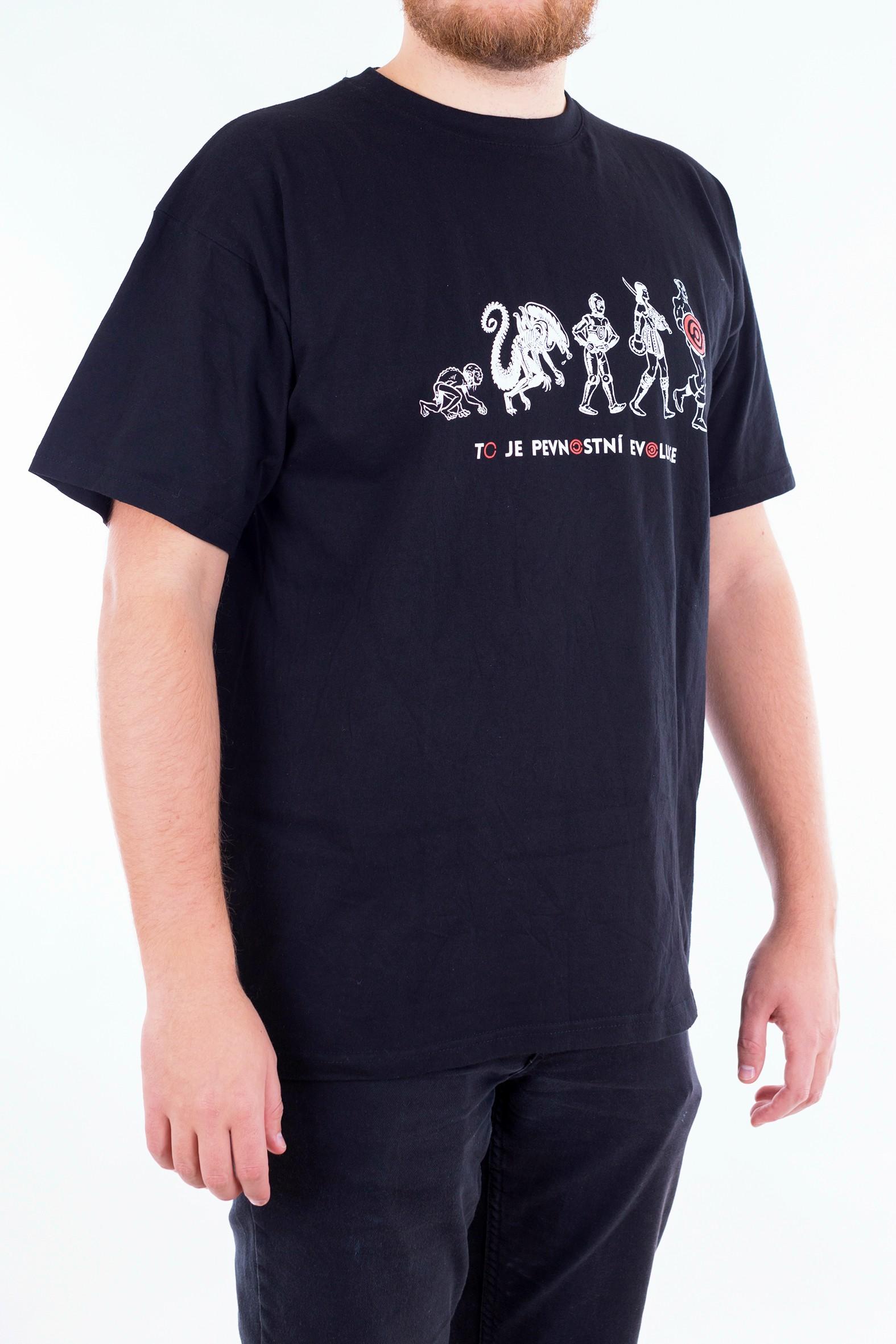 Pánské tričko Evoluce - červené - 3