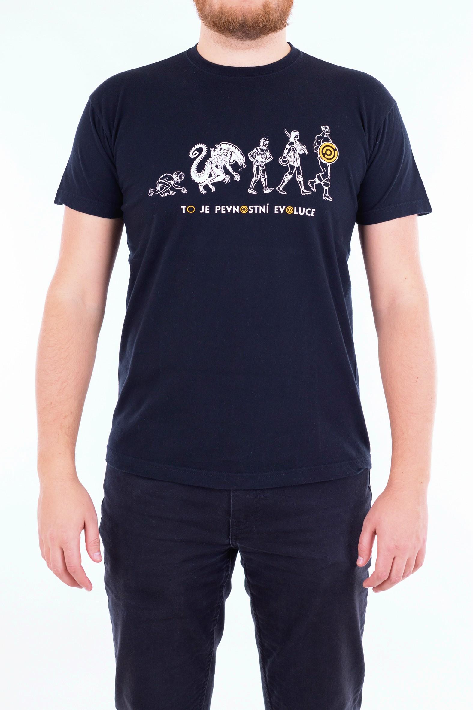 Pánské tričko Evoluce - žluté - 1