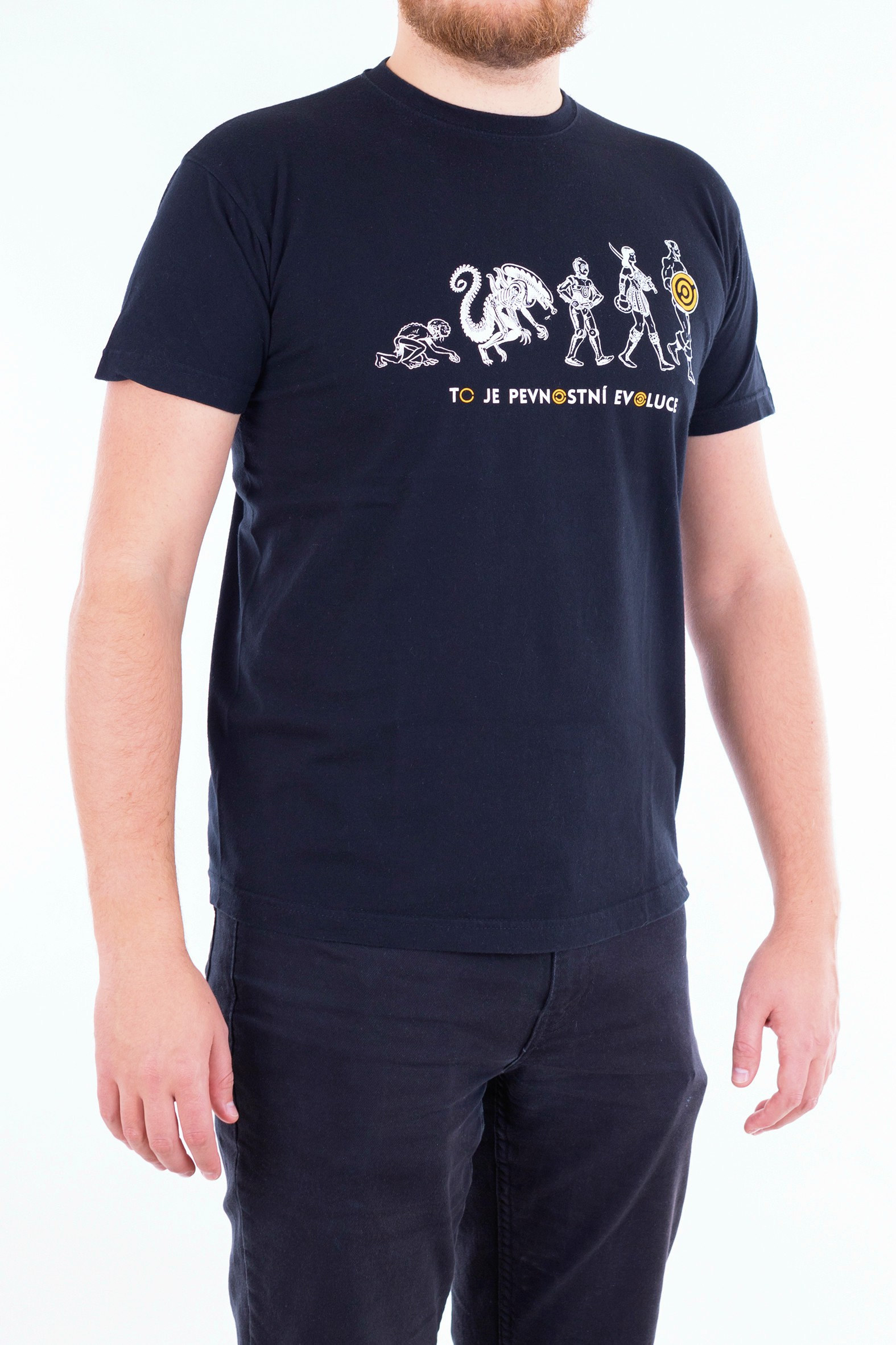 Pánské tričko Evoluce - žluté - 3